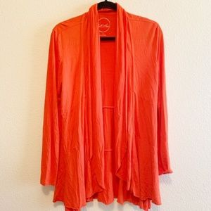 INC Bright Orange Long Cardigan Size Medium